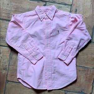 Boys Polo Pink Oxford